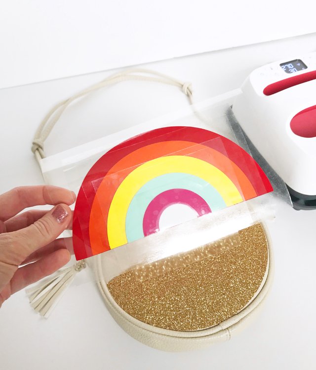 Making rainbow purse with EasyPress 2