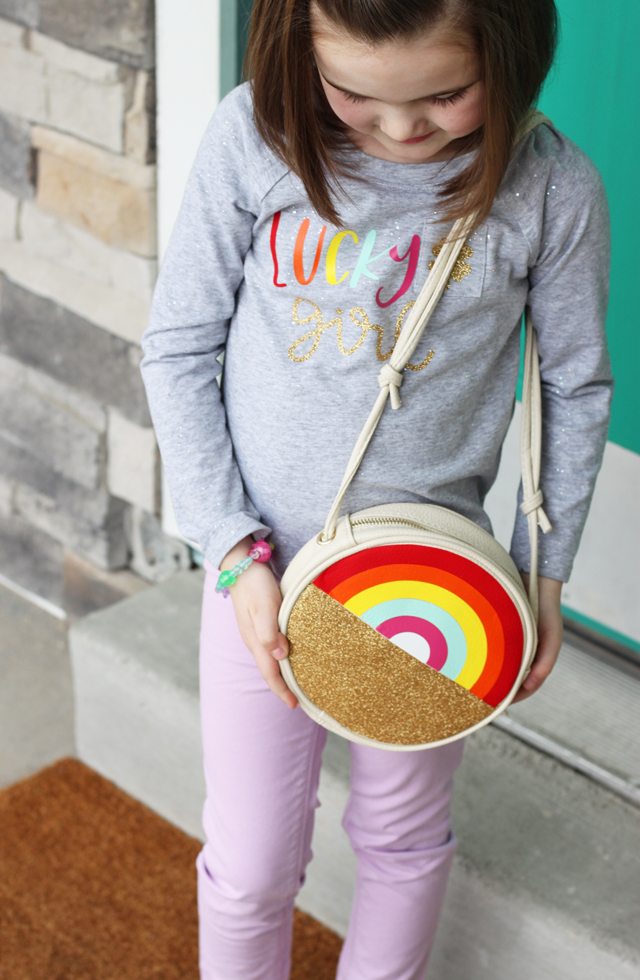 Pot of Gold and rainbow purse for St Patricks Day