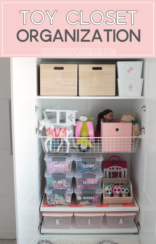 Kids Toy Closet Organization