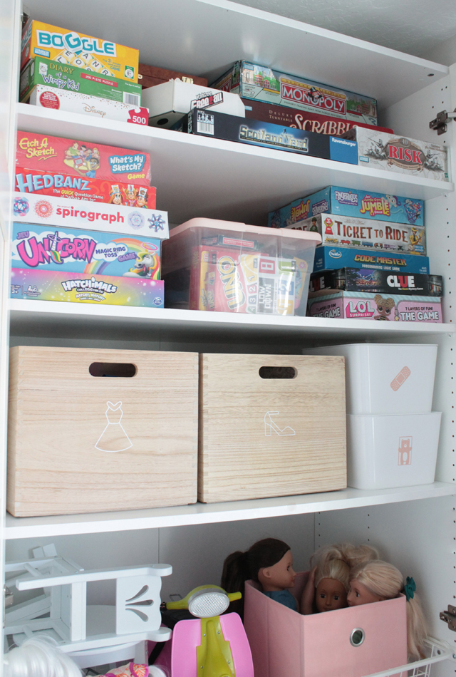 Organizing toys and games